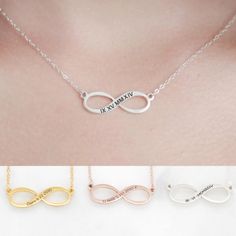 Infinity Jewelry Silver Infinity Summer Necklace Custom