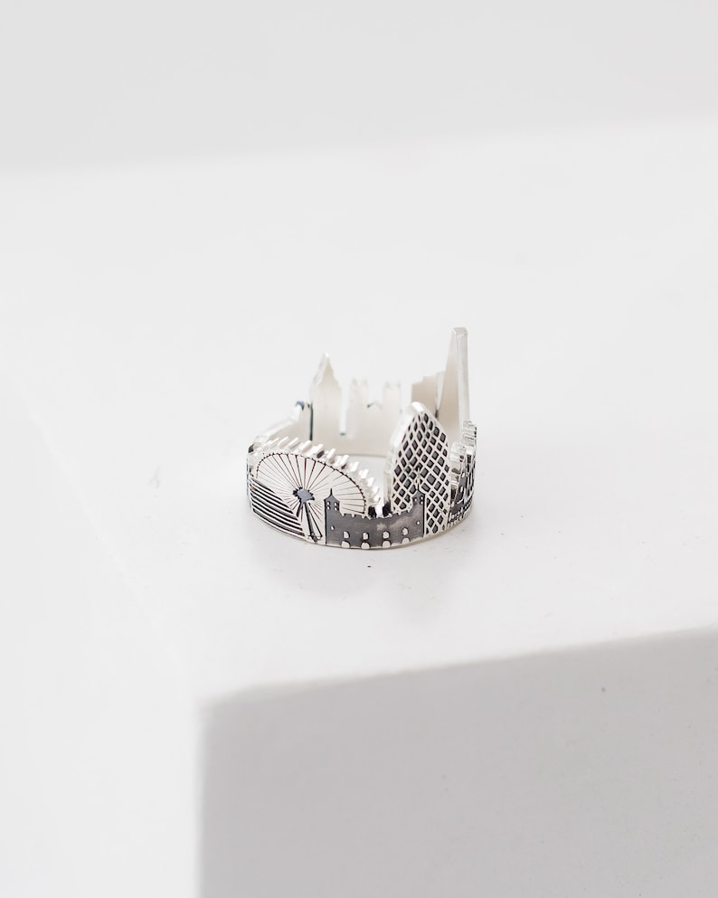 Your City Ring Any Cityscape Ring Travel Ring Custom image 3