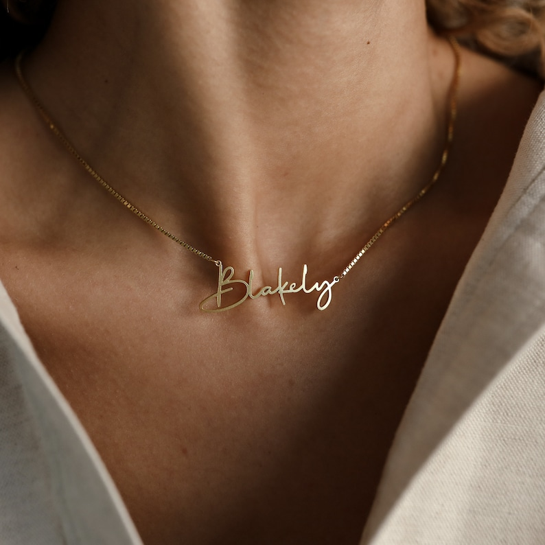Personalized Name Necklace by CaitlynMinimalist  Gold Name image 1