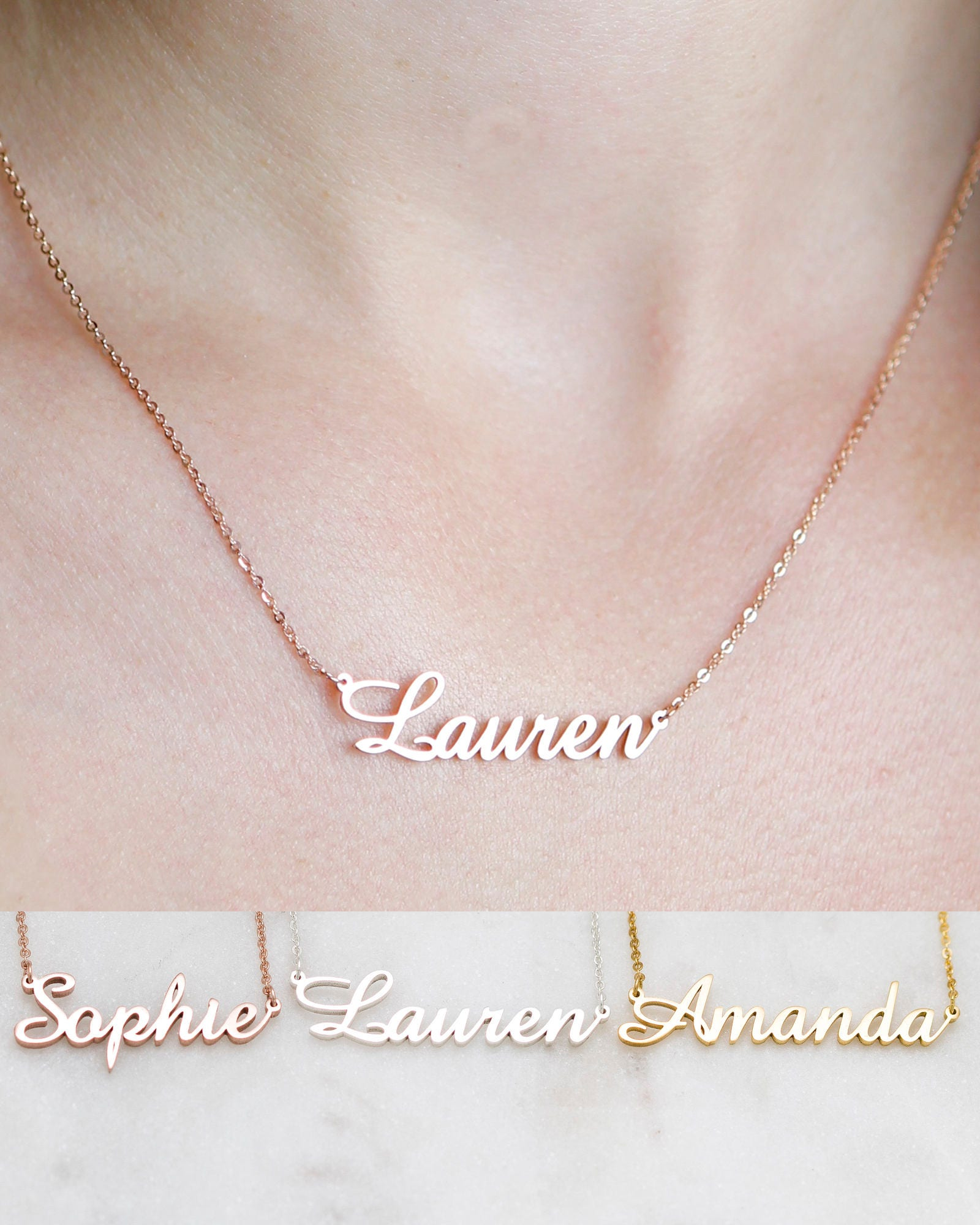 Custom Name Necklace Personalized Name Necklace KY050615 Birthday Gifts Personalized Gift Dainty Name Necklace