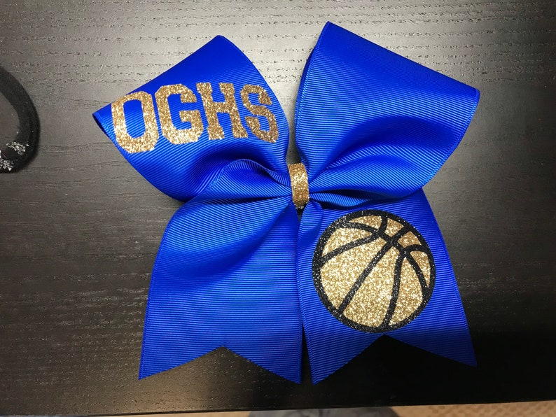 monogram cheer bow Monogram Glitter Cheer Bow Cheer Bow sideline cheer bow basketball bow Personalized Cheer Bow