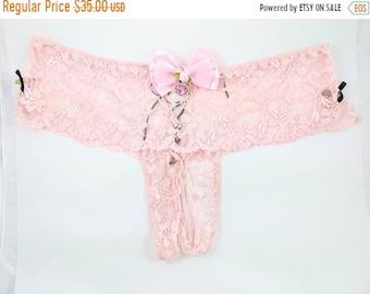 f5720c5058 Christmassale Bow lace boyshort daddysgirl panties ddlg sissy lolita  crotchless plus size corset back size 3x 4x