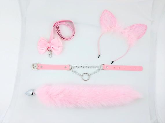 Mini Kitten Set Ears and Tail BDSM Petplay