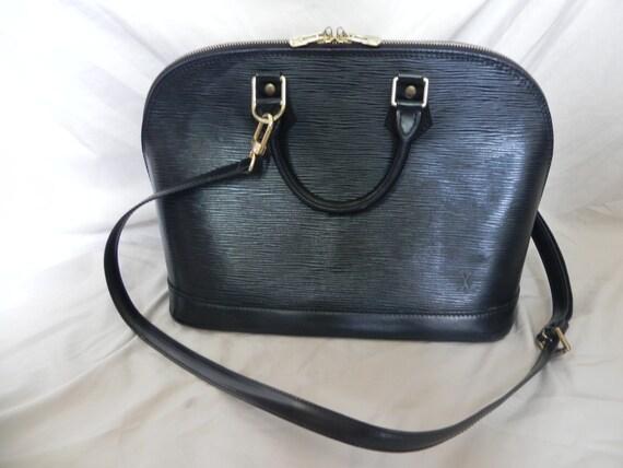 665cdaf6e93b Louis Vuitton Vintage 1997 noir cuir Epi Alma sac besace sac à bandoulière  sac