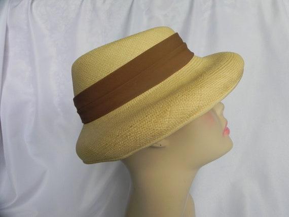 1940's Vintage Straw Panama Style Knox Hat Fedora… - image 3