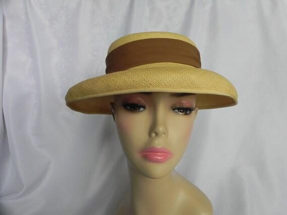 1940's Vintage Straw Panama Style Knox Hat Fedora… - image 2