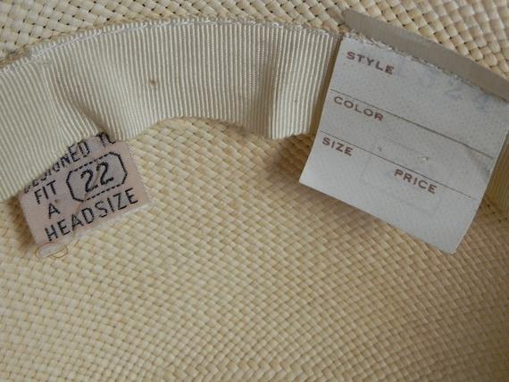 1940's Vintage Straw Panama Style Knox Hat Fedora… - image 9