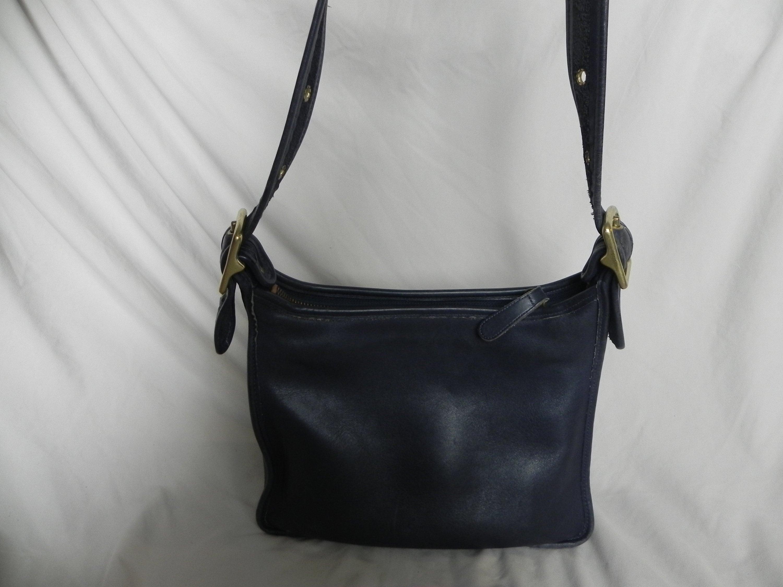 8ba22f5406e04 Coach Large Vintage Black Leather Hobo Bag Shoulder Bag Purse | Etsy