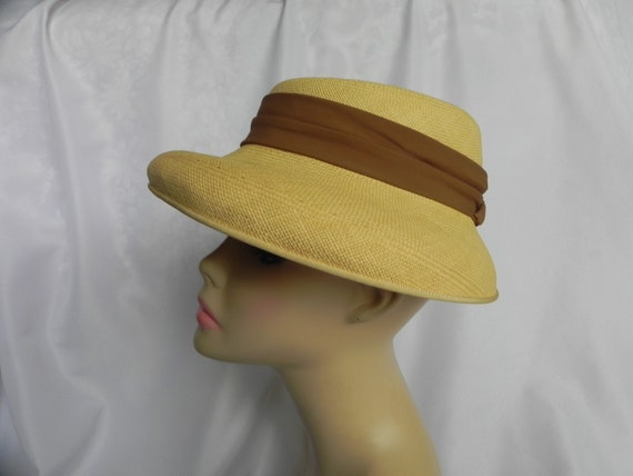 1940's Vintage Straw Panama Style Knox Hat Fedora… - image 1