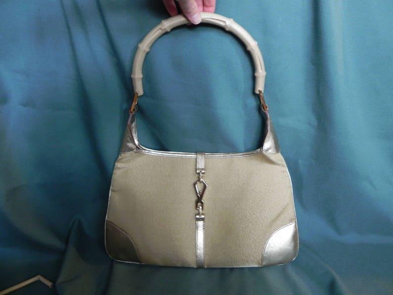 Vintage Gucci Jackie O Gold Handbag Shoulder Bag Purse Hobo  131ea827ac836