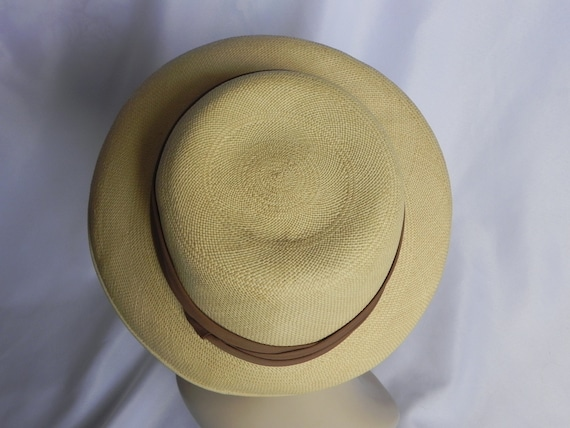 1940's Vintage Straw Panama Style Knox Hat Fedora… - image 5