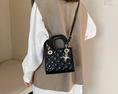 Mini Bag Quilted Leather Patent Lady Bag Cannage Leather Crossbody Designer Bag Messenger Elegant Lady Bag Handle Tote Top Handle Bag