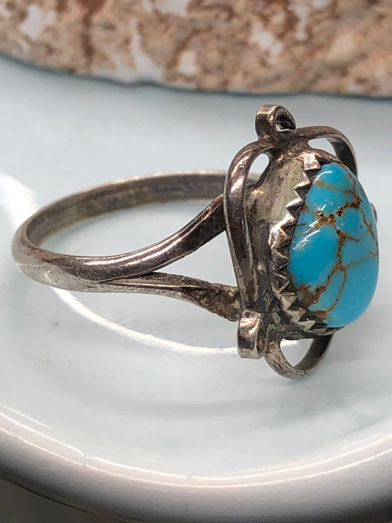 Sterling and turquoise ring