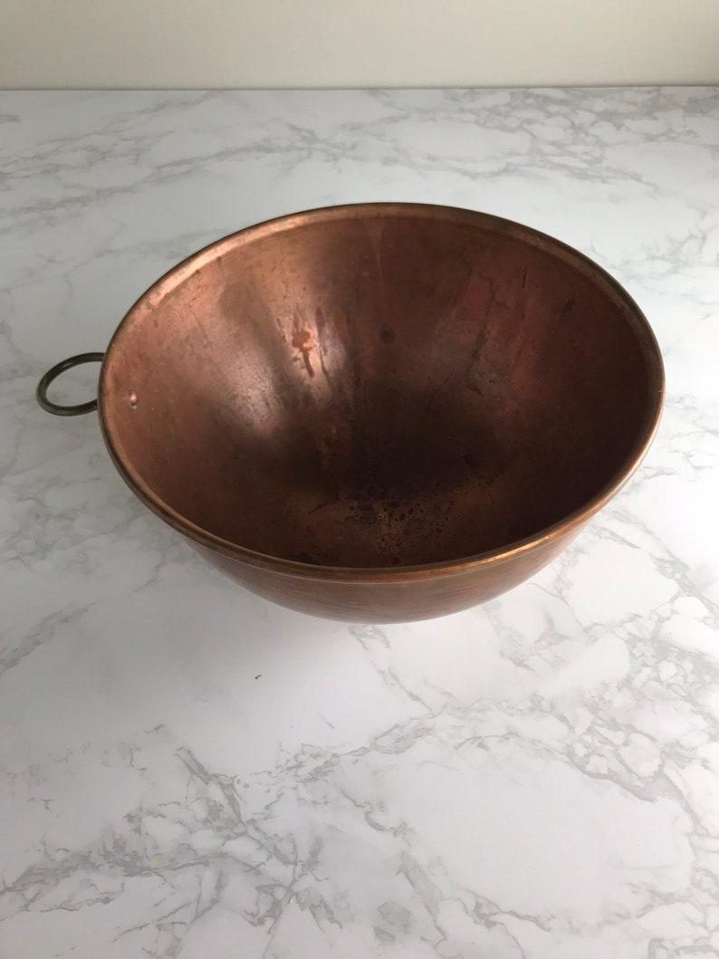 Antique Copper Mixing Bowl