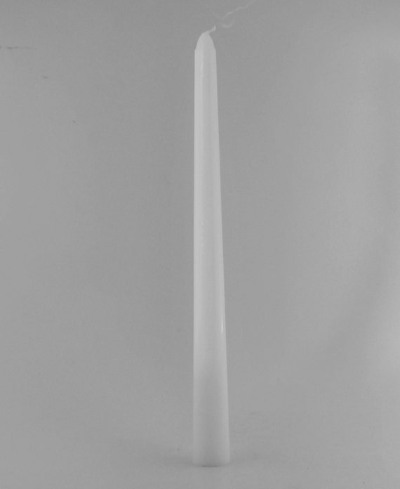 12 Candles- 10 Inch White Taper Candles