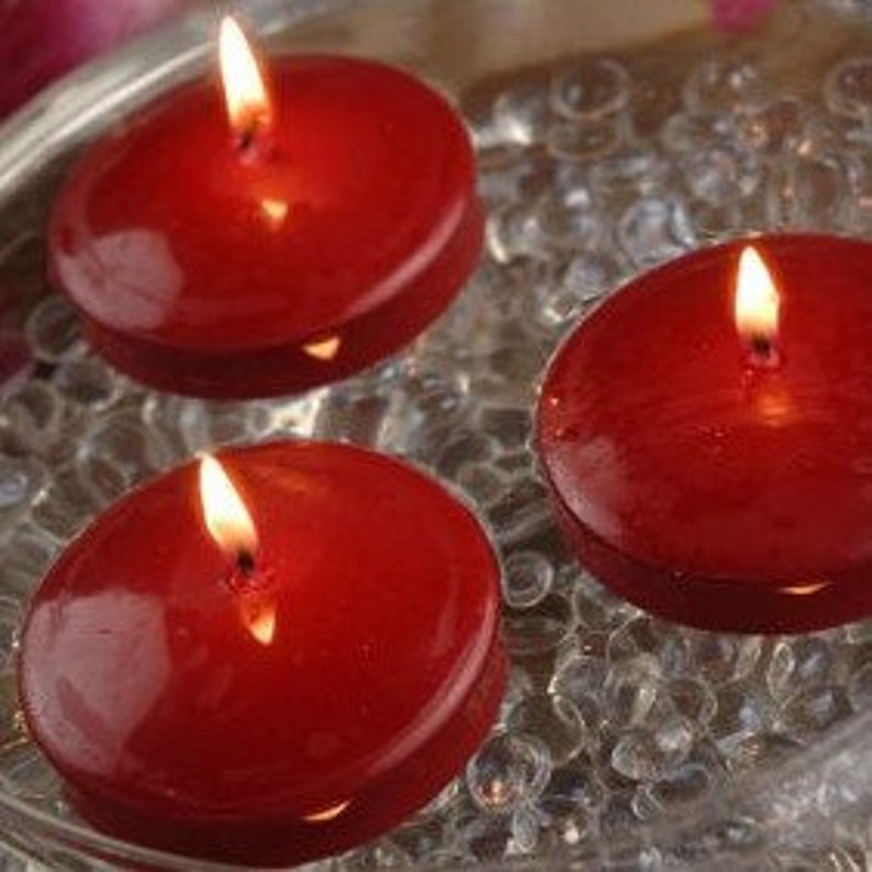 24 Candles 3 inch Unscented Floating Candles image 0