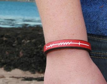 Grá (Love) Ogham script leather bracelet
