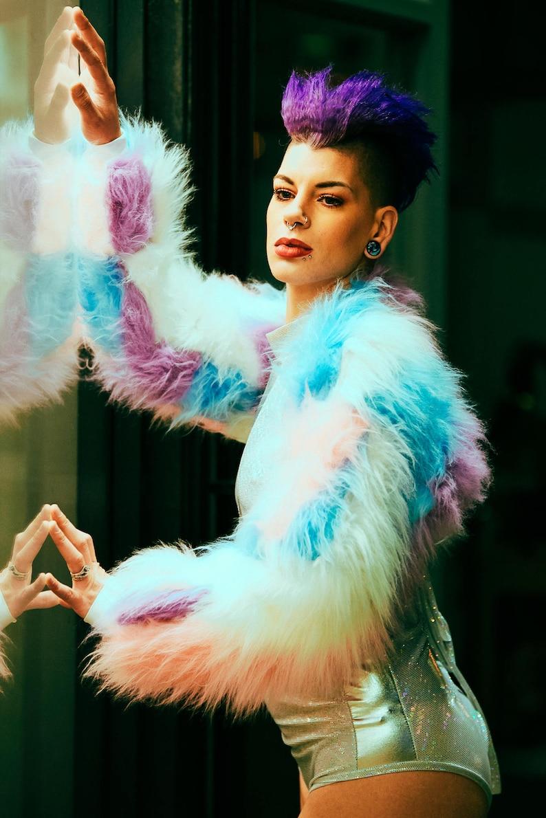 2b65f0e05e8cc Funki-B patchwork pastel unicorn wacky trendy colourful faux | Etsy