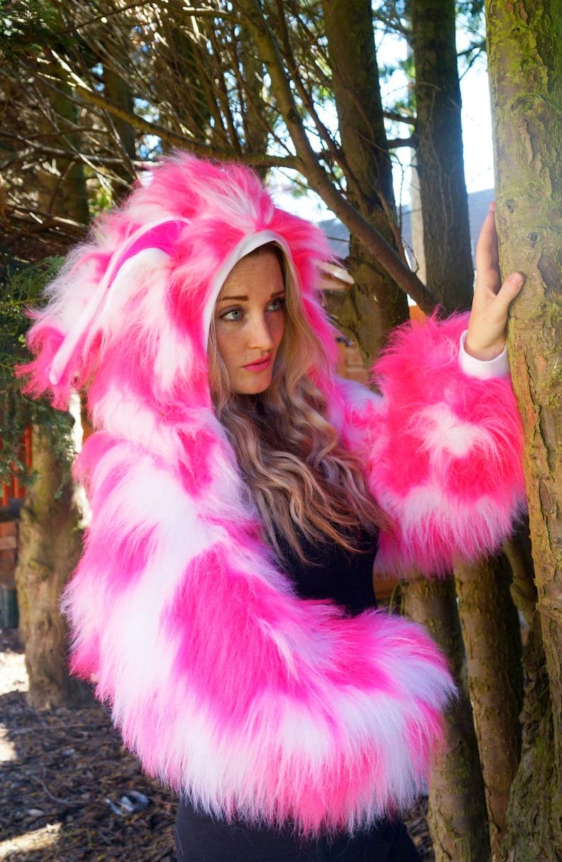 2dbb4f4741d51 LINED MANY COLOURS Funki-B faux fur fluffy camo bright neon | Etsy