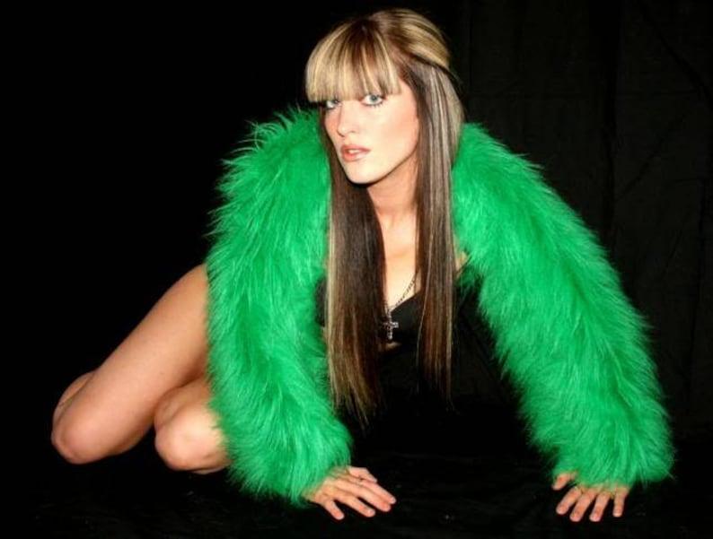 0749d815a435c LINED ANY COLOURS Fluffy furry shrug jacket coat neon plain | Etsy