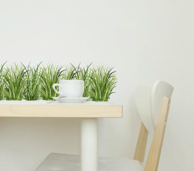 Wall Decals Grass Home Décor Kitchen Décor Grass Decal image 0