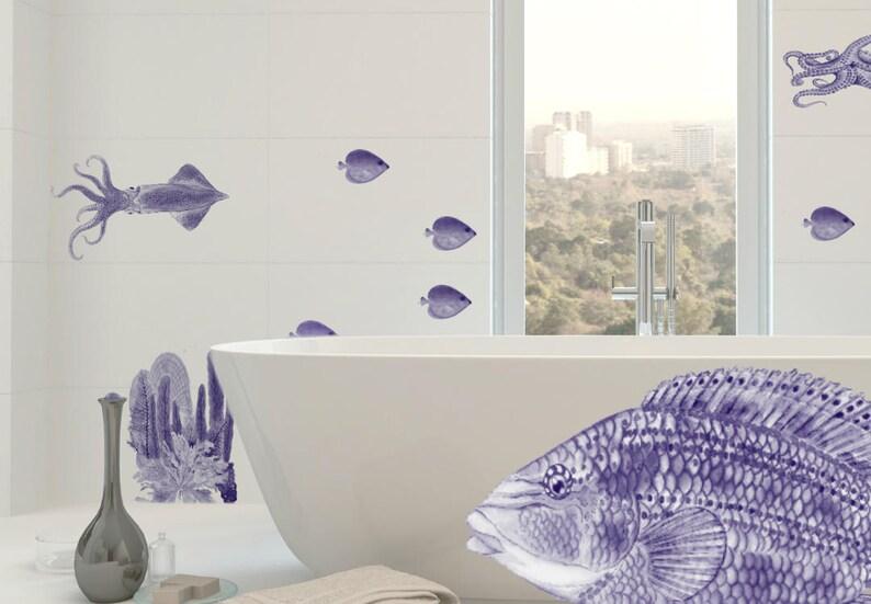 Badezimmer Wandtattoos Fische Fliesenaufkleber Fische | Etsy