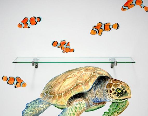 Sea Turtle Wall Decal Home Décor Bathroom Décor