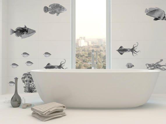 Badezimmer Wandtattoo Fliesenaufkleber Fische Fische Etsy