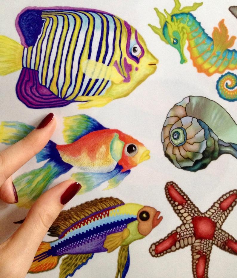 fliesenaufkleber fische unterwasserwelt 10set ab 690 eur