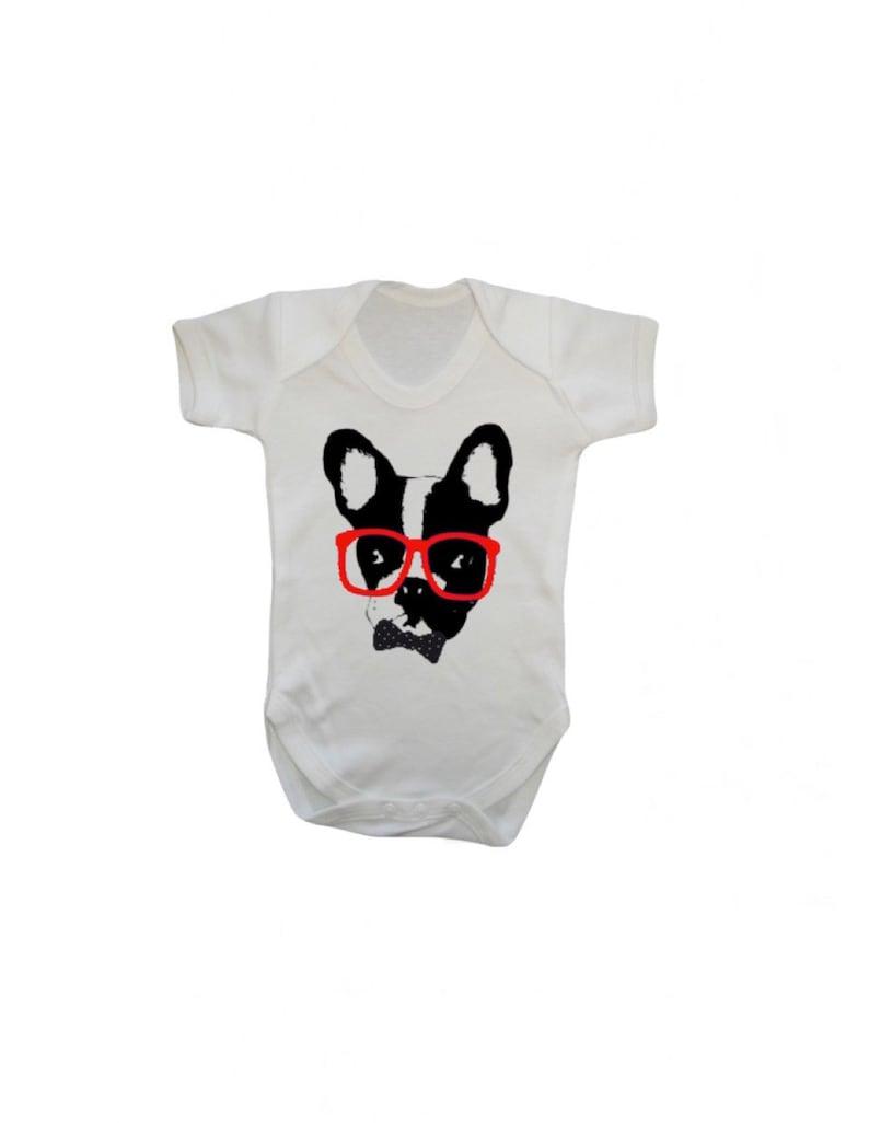 8a5c469bd Super Cute French Bulldog Printed Baby Vest | Etsy