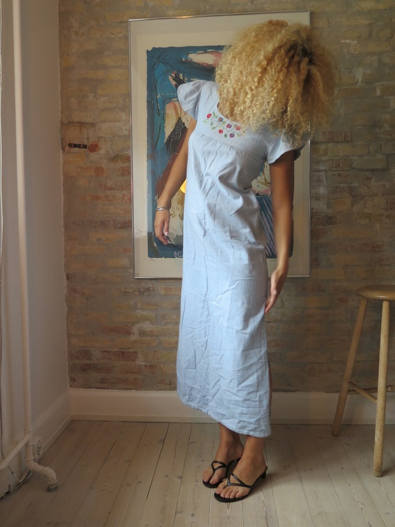 Vintage 70s Chambray denim dress