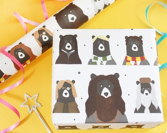 Magical Bears Wrapping Paper Birthday Party Gift Wrap Childrens