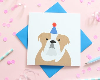 Birthday Bulldog Card