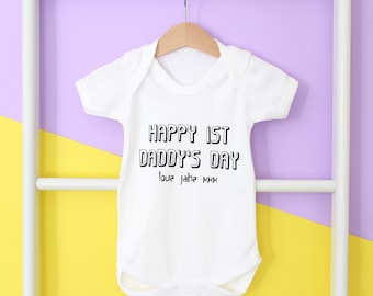 Personalised first Father's Day baby grow