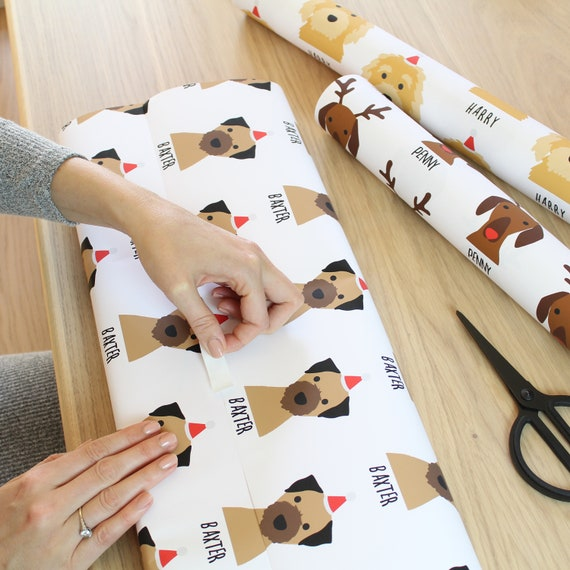 Personalised Dog Christmas Wrapping Paper Etsy
