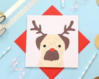 Christmas pug card
