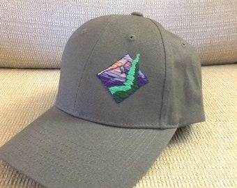 Hand Stitched Mountain Sunset Ball cap
