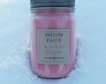 Unicorn Farts Scented Soy Candle