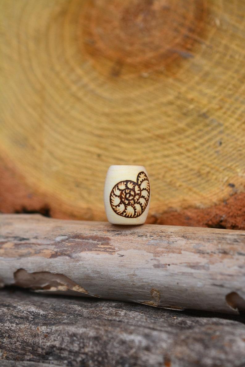 bead Spiral into Growth wooden beads hair beads dreadlock beads handmade with love
