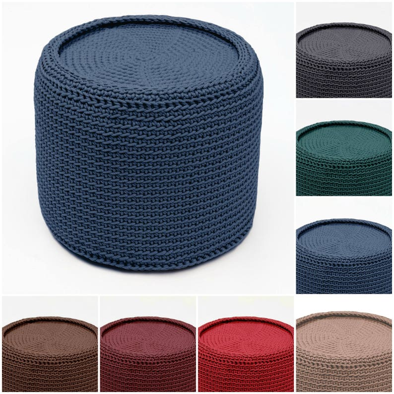 16 colors TABLE crocheted coffee table  rustic furniture  glass top table  modern coffee table unique table