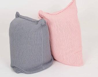 knitted BEAN BAG / floor cushion