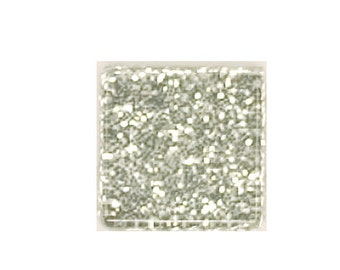 Silver Glitter Crystal Glass MosaicTiles