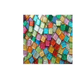 Glitter Crystal Glass MosaicTiles