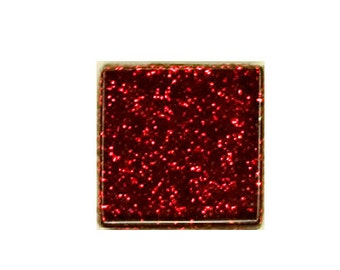 Ruby Glitter Crystal Glass MosaicTiles