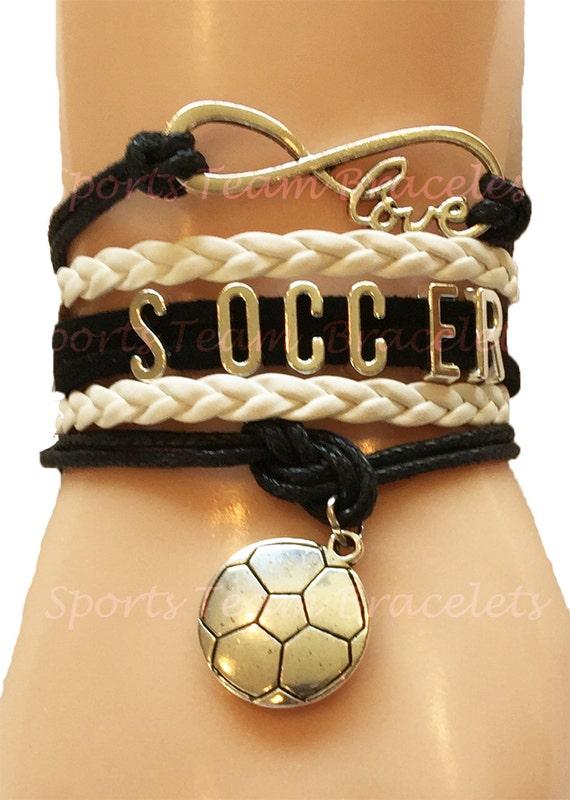 Soccerteam Gift Handmade Wrap Bracelet Friendship Bracelet For Soccerl Players Or Team Moms Customized In Your Team Colors