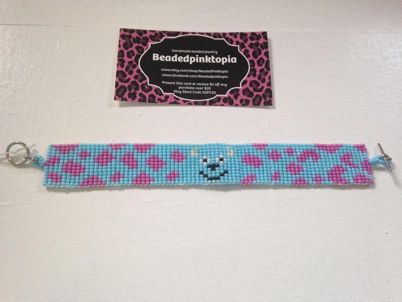 Perles De Main Sulley PerléEn À Fait Inc Native Disney PerlesBijoux American Monstres Bracelet TisserManchette Métier xedCorB