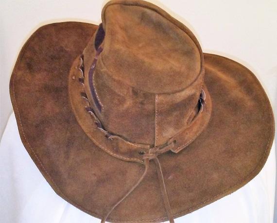 160cc4ed143 BULLHIDE Leather Cowboy Hat Handmade Brown size Large