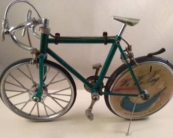 Modellini Miniatura Biciclette Da Corsa Diecast Decorative Tavola Lega Nero