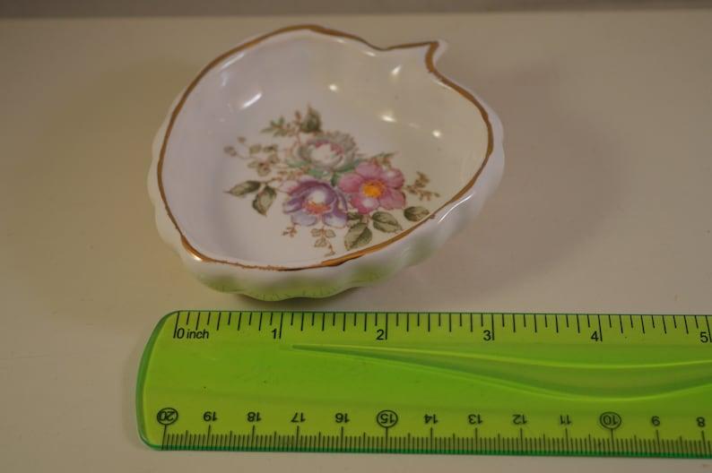 Vintage ceramic  miniature ashtray floral
