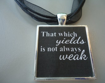 BDSM Jewelry Necklace Collar SUBMISSIVE * That which yields is not always weak